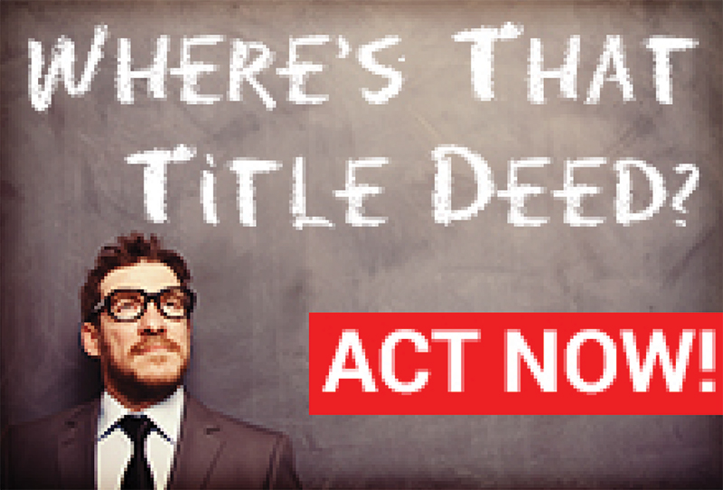 Property Owners, Buyers and Agents: Lost Title Deeds and Bonds – Don't Delay!